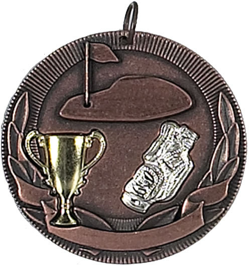 "Bronze Golf Barrel Medal 50mm (2"")"