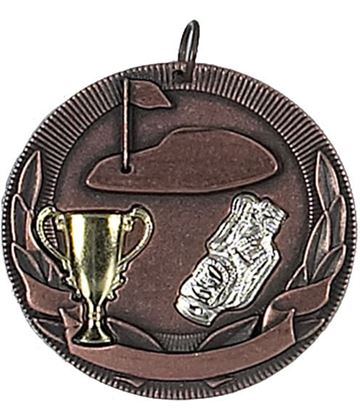 "Bronze Golf Barrel Medal 50mm (2"")"