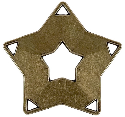"Bronze Mini Star Medal 60mm (2.25"")"