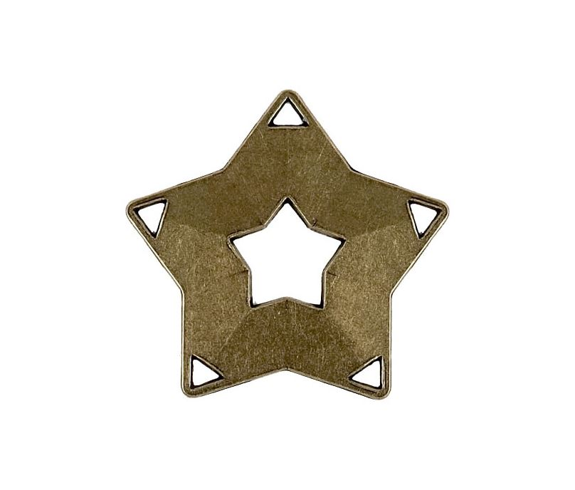 "Bronze Mini Star Medal 60mm (2.25"")"