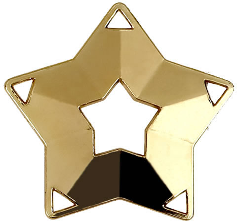 "Gold Mini Star Medal 60mm (2.25"")"