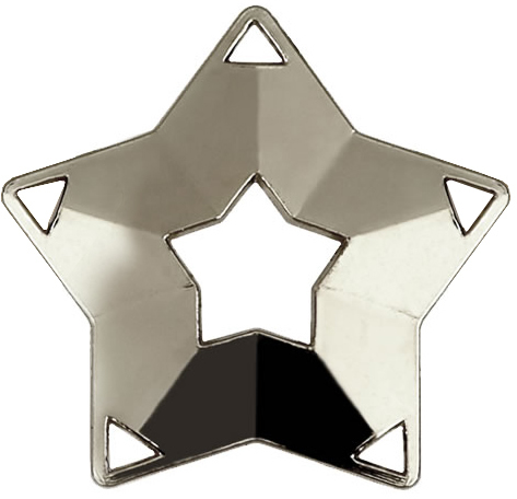 "Silver Mini Stars Medal 60mm (2.25"")"