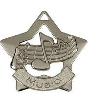 "Silver Music Mini Star Medal 60mm (2.25"")"