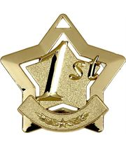 "1st Place Mini Stars Medal 60mm (2.25"")"