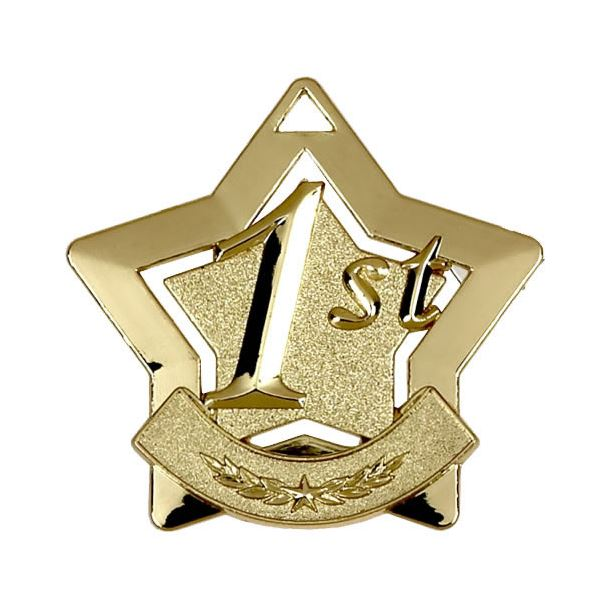 "1st Place Mini Stars Medal 60mm (2.25"")"