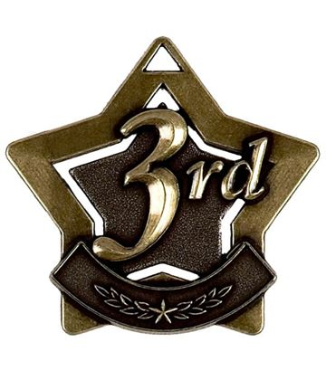 "3rd Place Mini Star Medal 60mm (2.25"")"