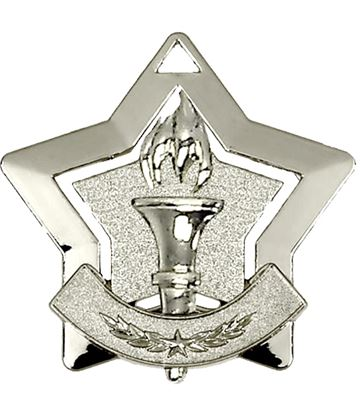 "Silver Victory Mini Stars Medal 60mm (2.25"")"