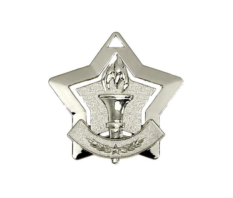 "Silver Victory Mini Stars Medal 60mm (2.25"")"