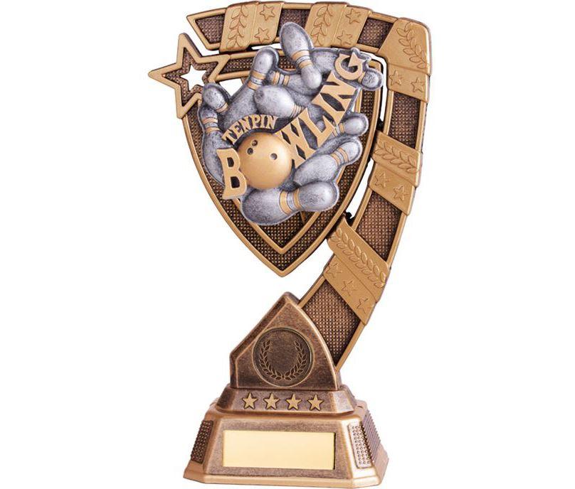 """Euphoria Tenpin Bowling Trophy 21cm (8.25"""")"""