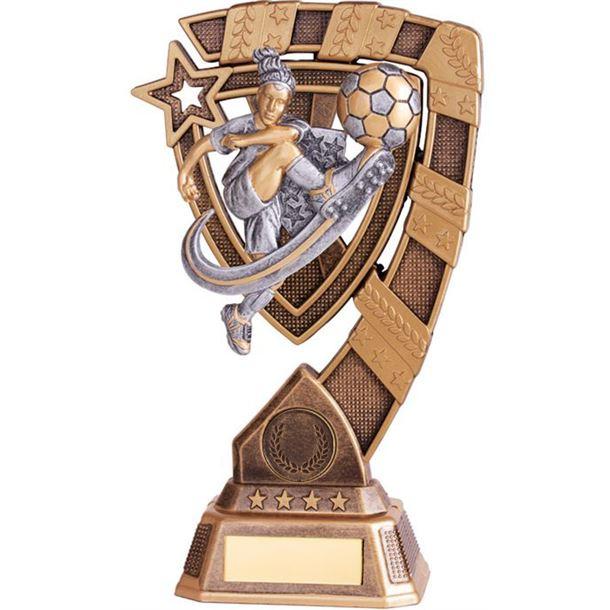 "Euphoria Female Football Trophy 15cm (6"")"
