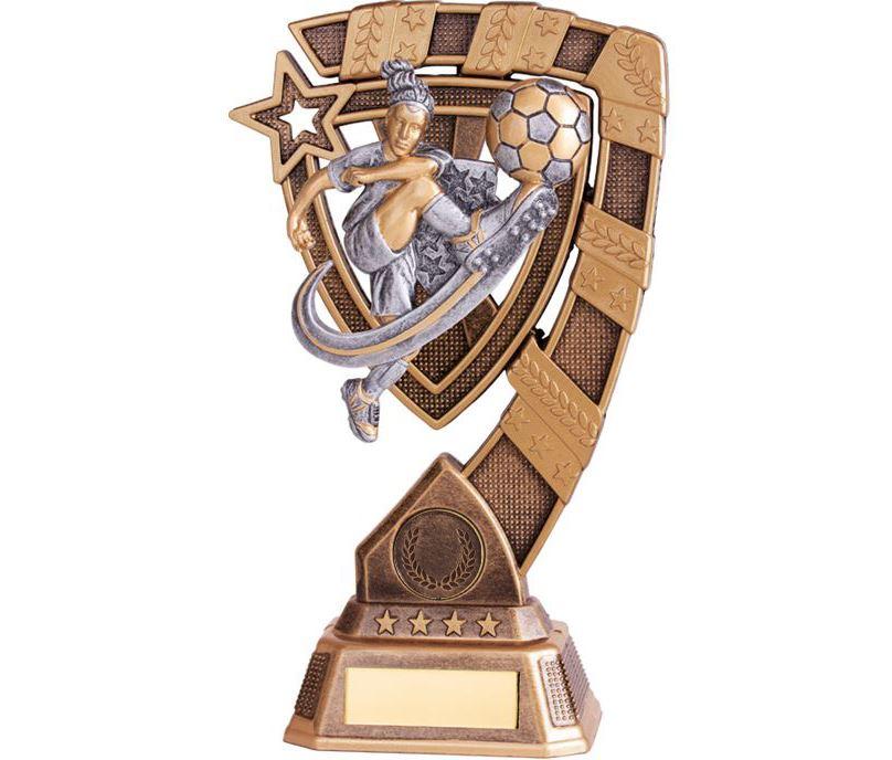 "Euphoria Female Football Trophy 18cm (7"")"