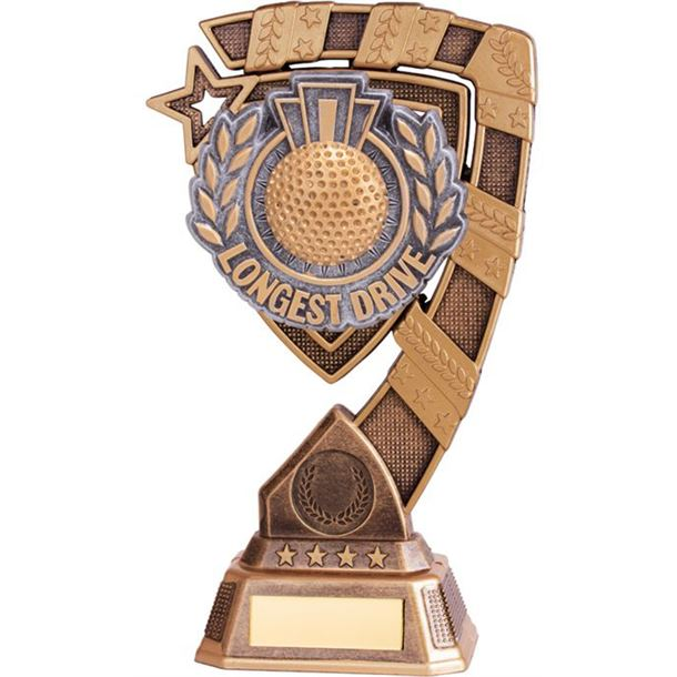 "Euphoria Longest Drive Golf Trophy 18cm (7"")"