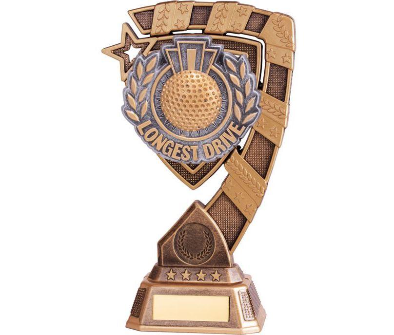 "Euphoria Longest Drive Golf Trophy 18cm (7"")"