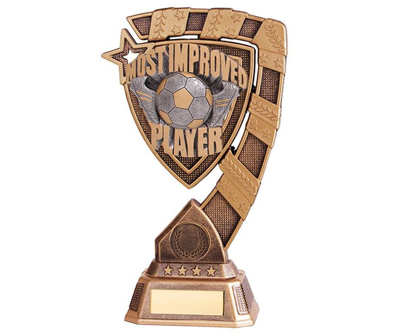 """Euphoria Most Improved Player Football Trophy 18cm (7"""")"""