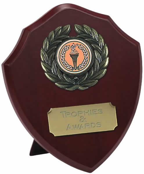 "Traditional Wooden Shield Award 12.5cm (5"")"