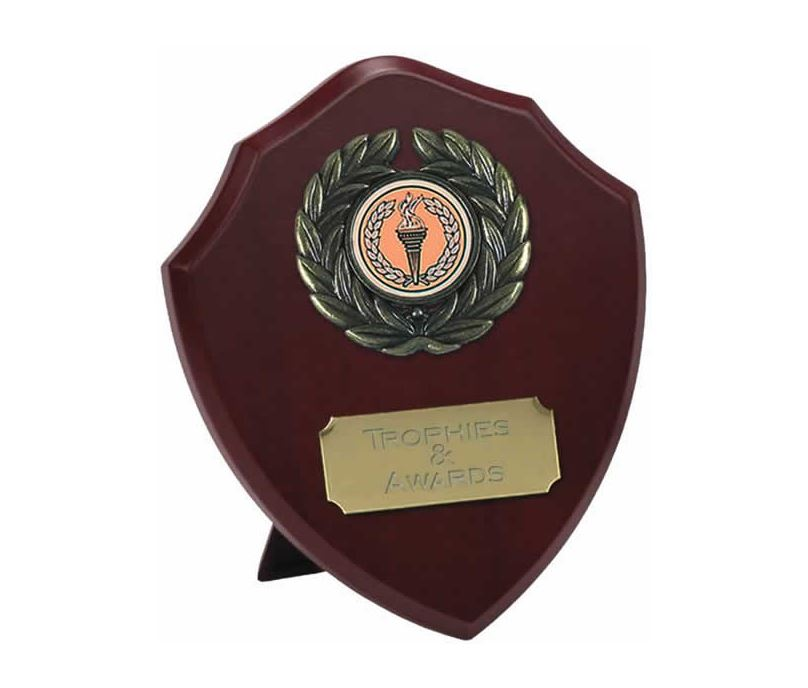 """Traditional Wooden Shield Award 12.5cm (5"""")"""