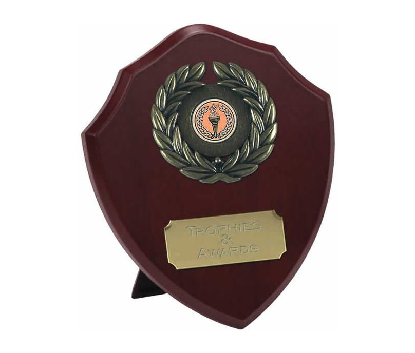 "Traditional Wooden Shield Award 18cm (7"")"