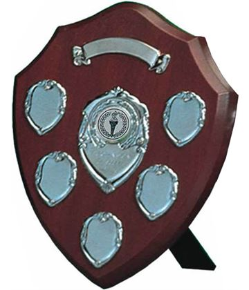 """Silver Annual Presentation Shield 20.5cm (8"""")"""