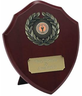 """Traditional Wooden Shield Award 20.5cm (8"""")"""
