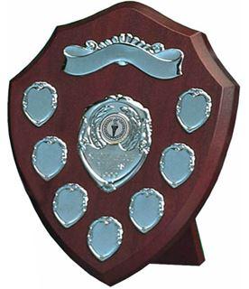 """Silver Annual Presentation Shield 25.5cm (10"""")"""