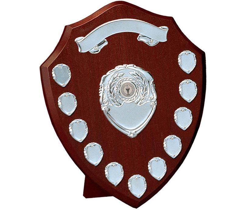 """Silver Annual Presentation Shield 35cm (14"""")"""