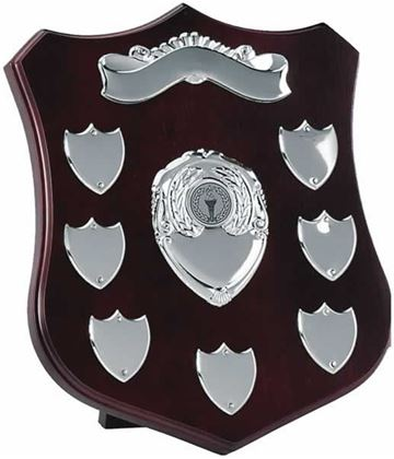 "Silver Plate Annual Shield Presentation Award 25.5cm (10"")"