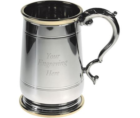 Personalised Brass Trim Tankards