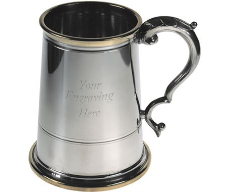 Personalised Glass Bottom Tankards