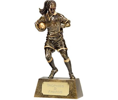 Female Rugby Player Trophies