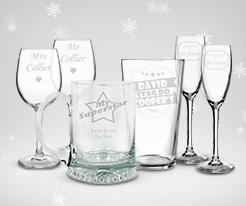 Personalised Christmas Glassware