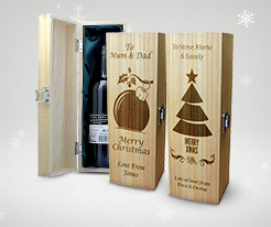 Personalised Christmas Wine Boxes