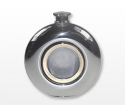 Personalised Brass Trim Hip Flasks