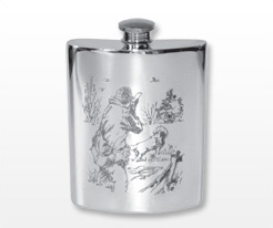 Personalised Hunting & Shooting Hip Flasks