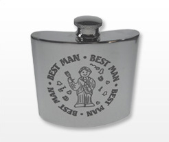 Personalised Wedding Hip Flasks