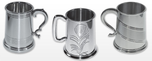 Personalised Patterned Tankards