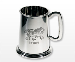 Personalised Welsh Tankards