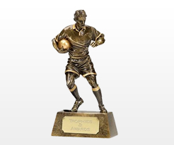Male Rugby Player Trophies